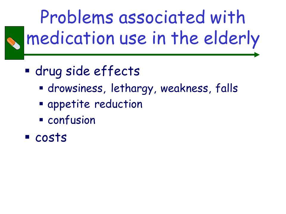 Risks of having adverse side- effect related to number of medications Number of medsRisk of ADR 26% 550% 8100% Shaughnessay AF.