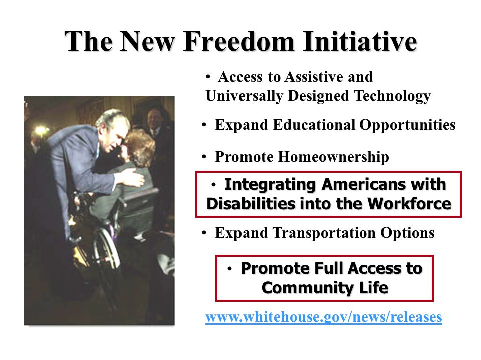 Fulfilling Americas Promise to Americans with Disabilities The New Freedom Initiative 2001