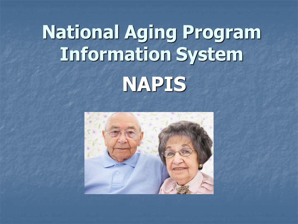 National Aging Program Information System NAPIS