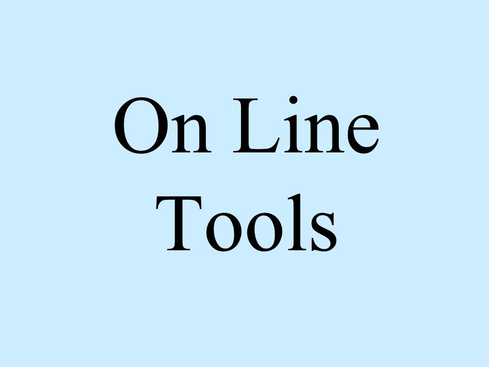 On Line Tools