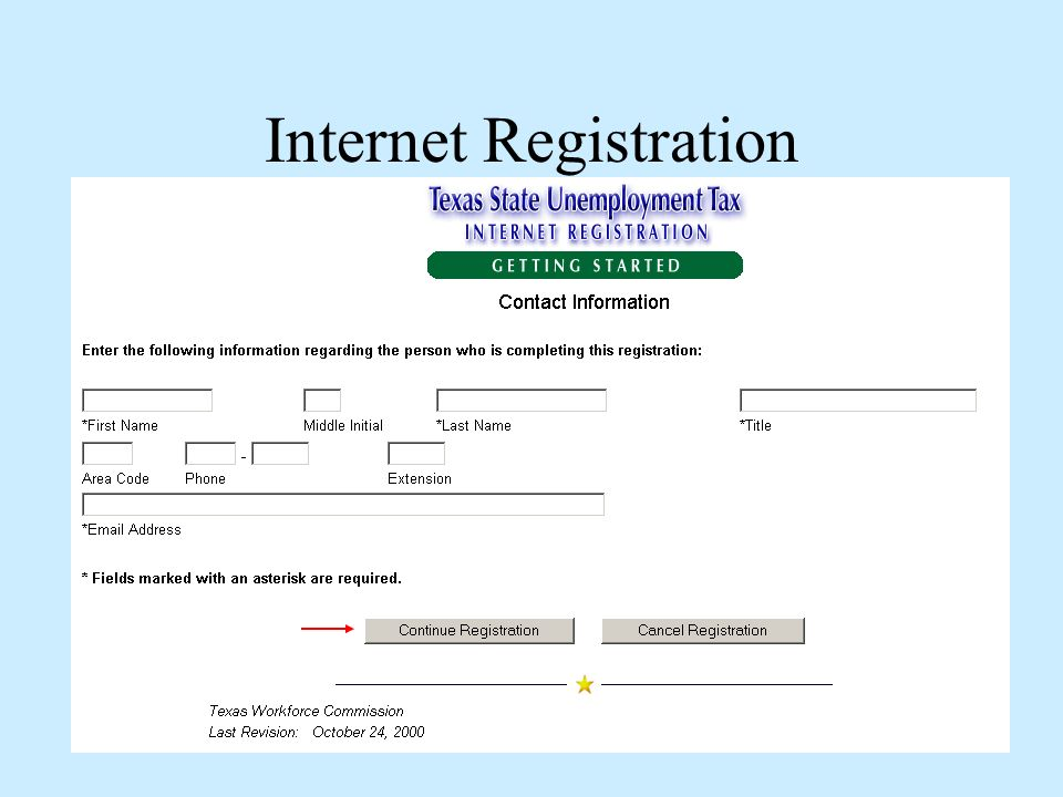 Internet Registration