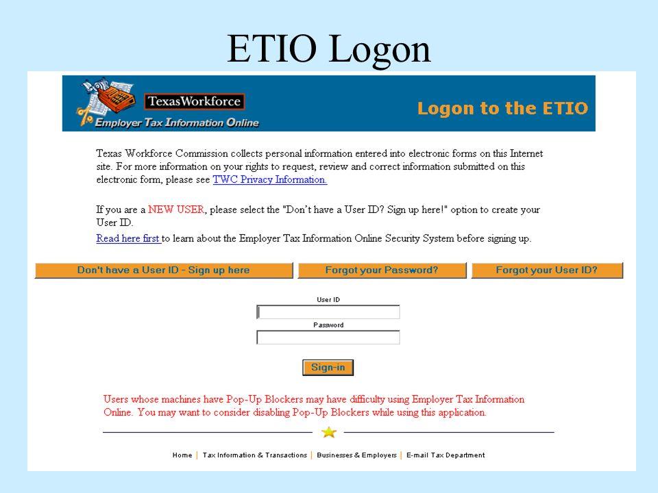 ETIO Logon