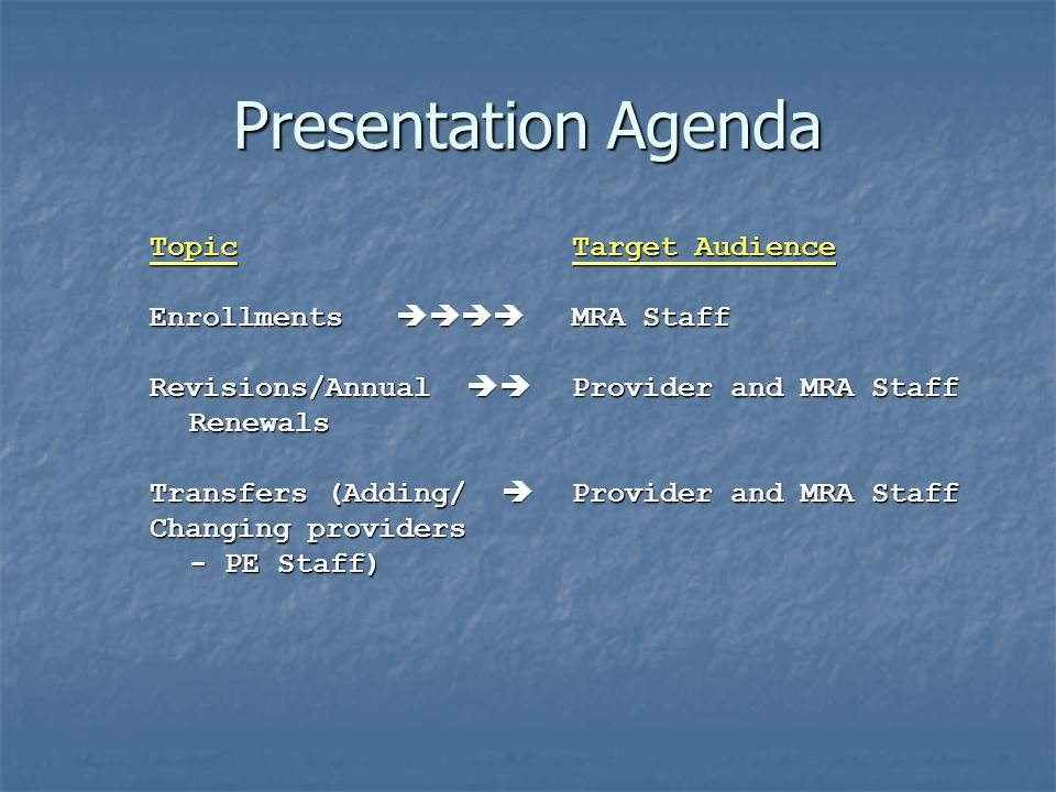 HCS CARE Screen Sequence 1.C06: Transferring Provider 2.