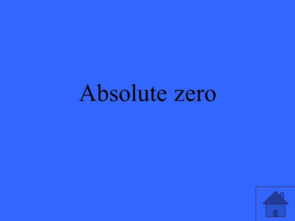 Absolute zero