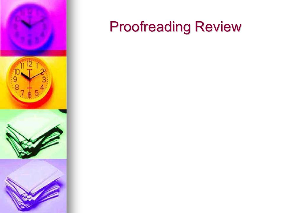 Proofreading Review