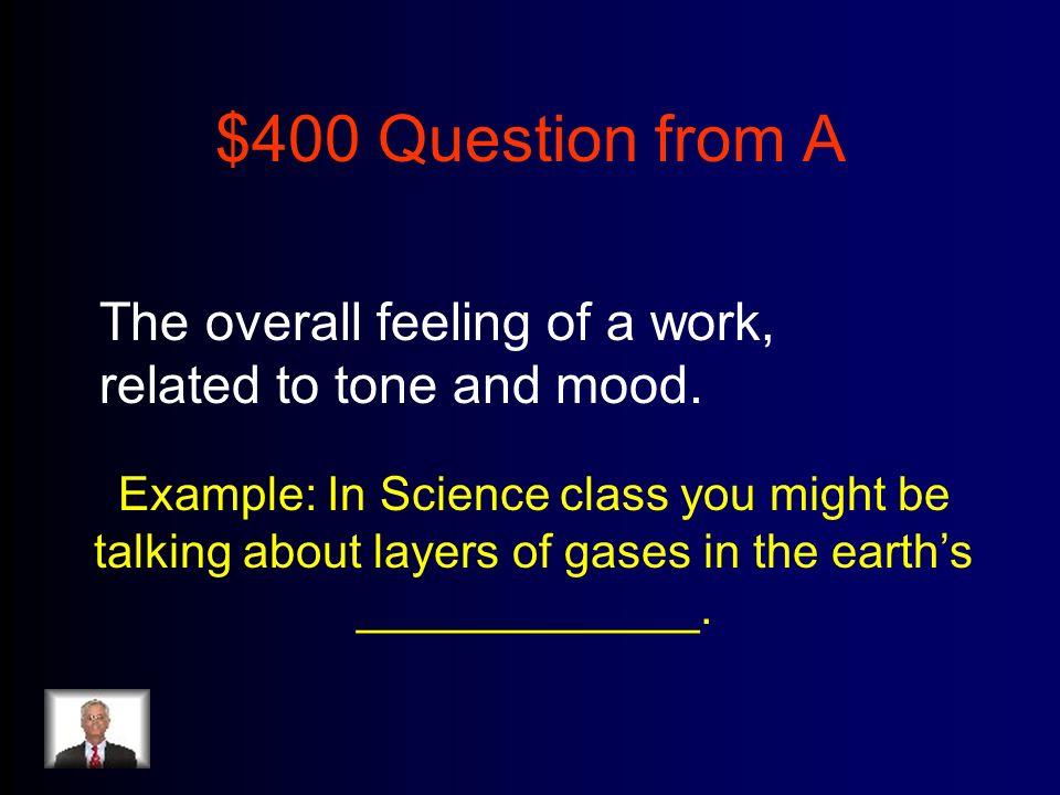 $400 Answer from M-O Myth