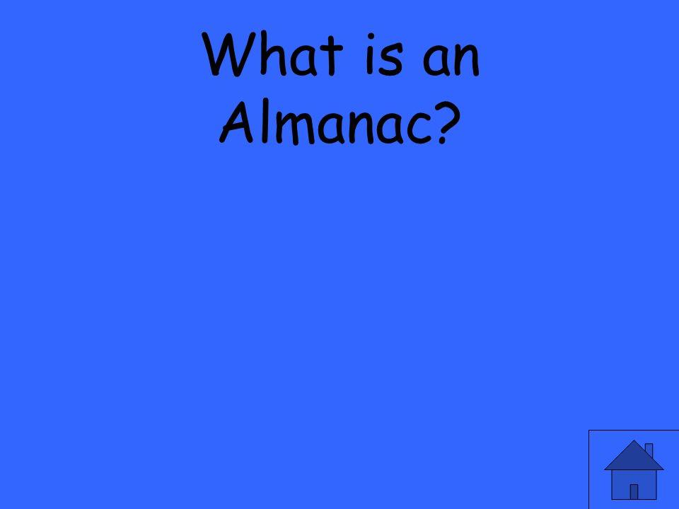What is an Almanac?