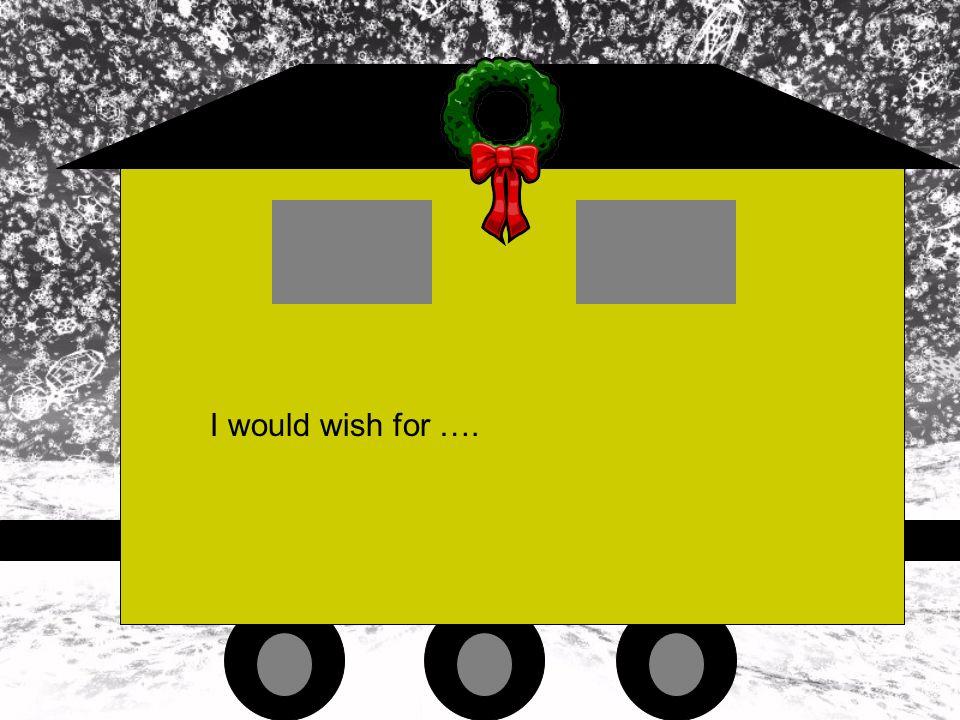 I would wish ….