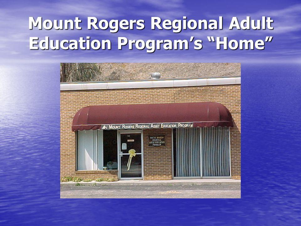 Mount Rogers Regional Adult Education Programs Home
