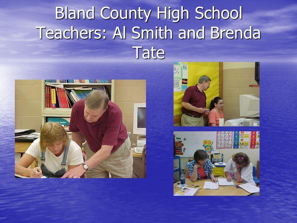 Bland County High School Teachers: Al Smith and Brenda Tate