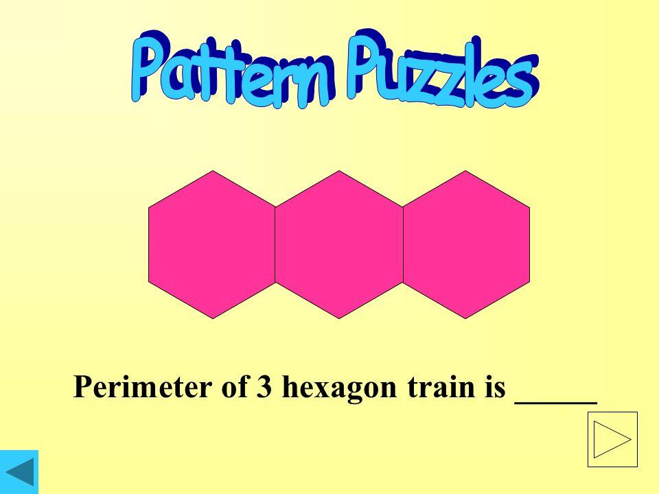 Perimeter of 2 hexagon train is _____