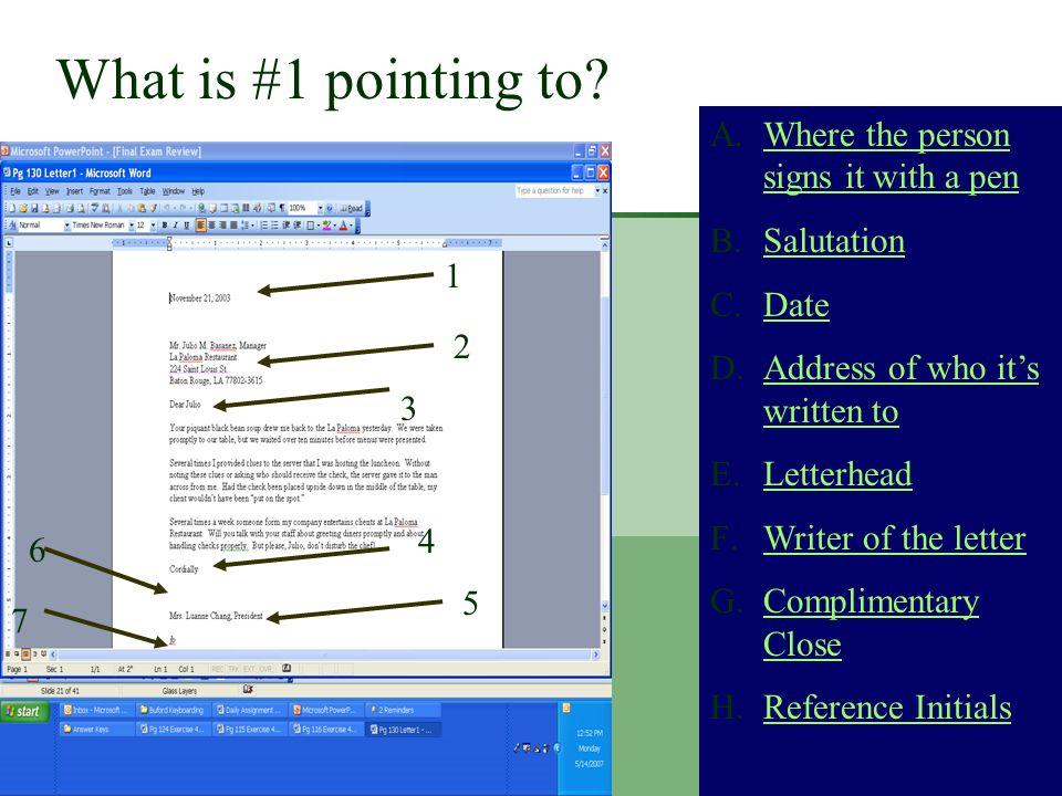 Question 22 A.Business LetterBusiness Letter B.Personal Business letterPersonal Business letter C.Mixed LetterMixed Letter D.Professional LetterProfes