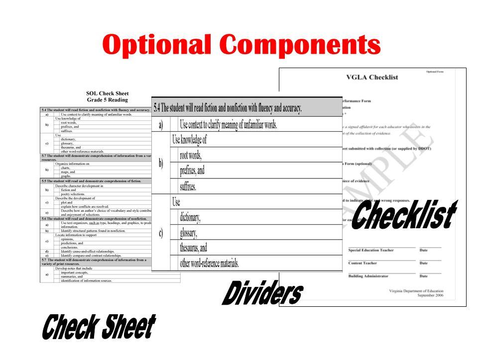 Optional Components