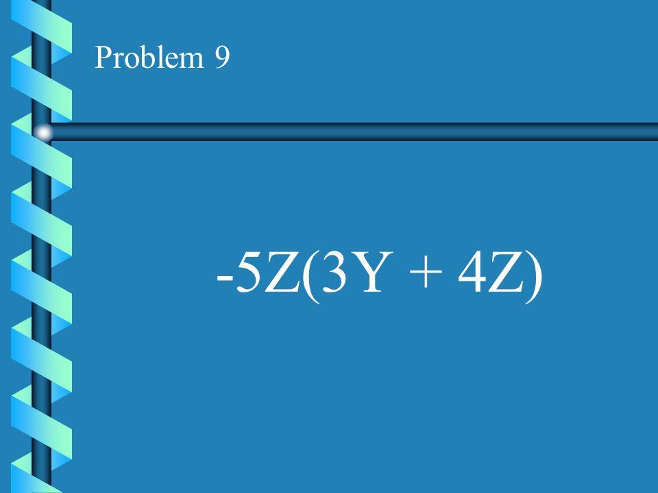 Problem 8 3D(D + 2G)