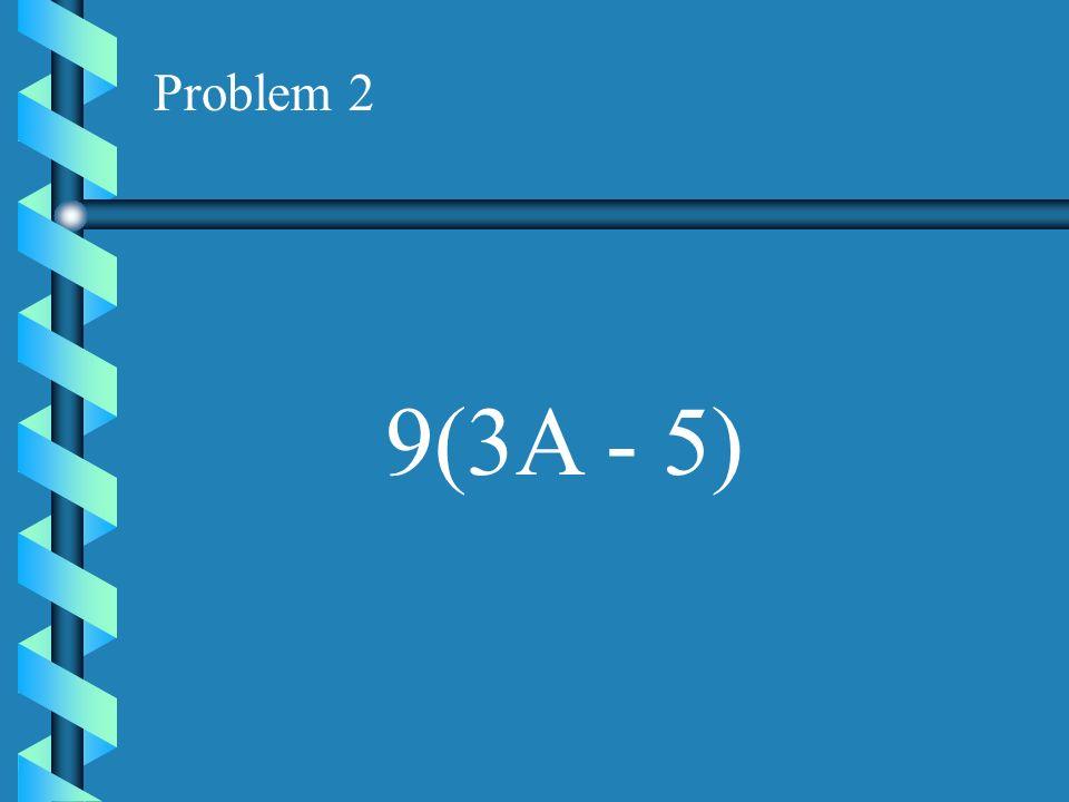 Problem 1 8(Y + 4)