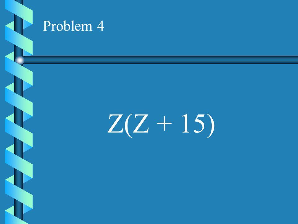 Problem 3 C(C - 7)