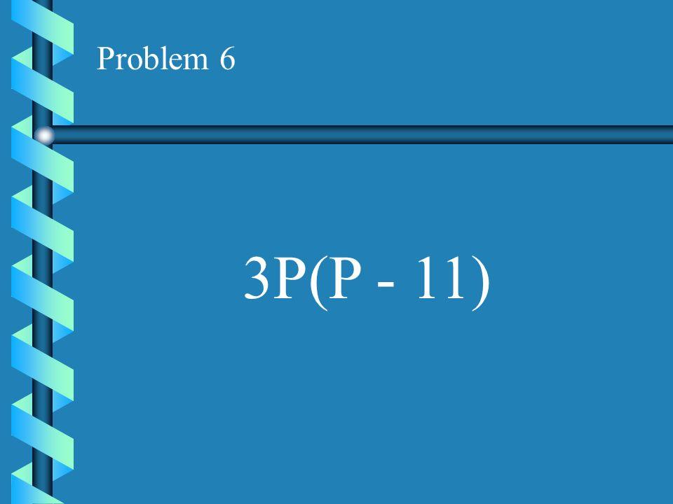 Problem 5 2Y(Y + 8)