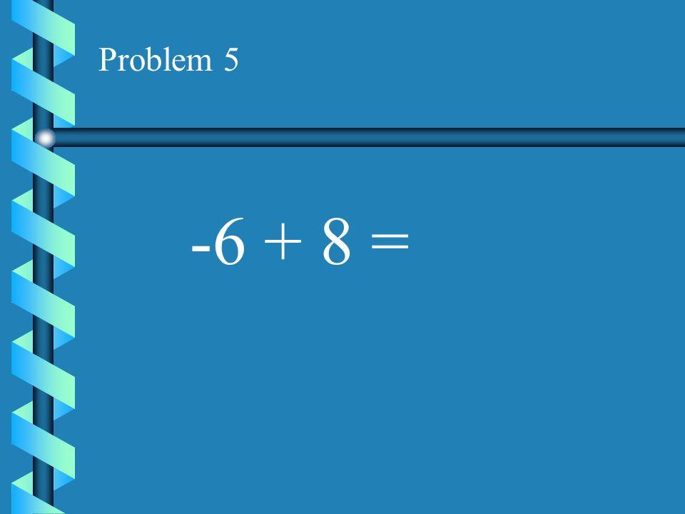 Problem 4 -3 + 8 =