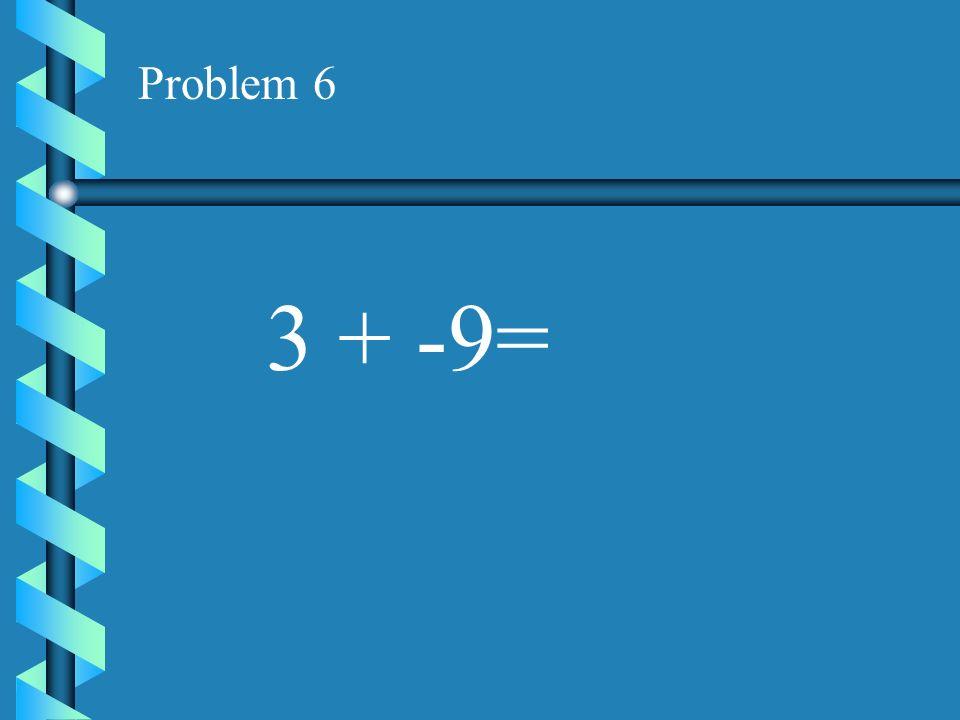 Problem 5 -6 + 8 =