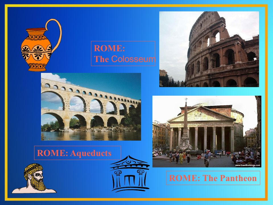 ROME: Aqueducts ROME: The Pantheon ROME: The Colosseum