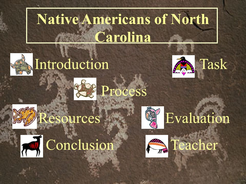 Native Americans of North Carolina Introduction Task Process Resources Evaluation Conclusion Teacher