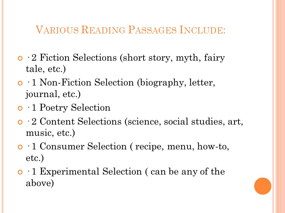R EADING EOG T EST E XPECTATIONS : Measures reading comprehension and knowledge of vocabulary; Based on the North Carolina English Language Arts Stand