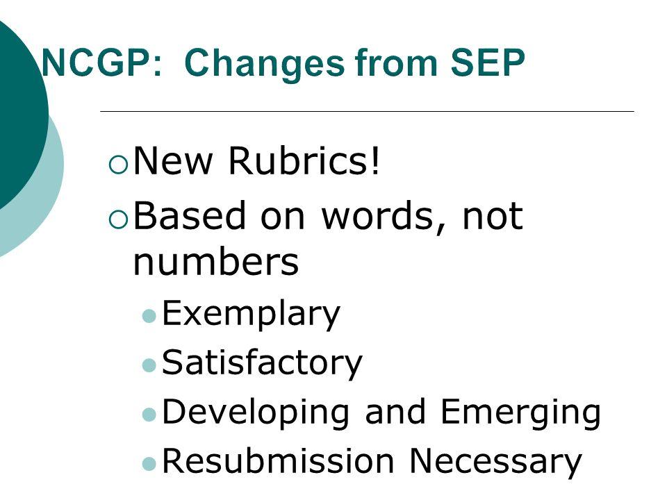 New Rubrics.