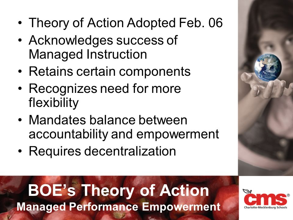 BOEs Theory of Action Managed Performance Empowerment Theory of Action Adopted Feb.