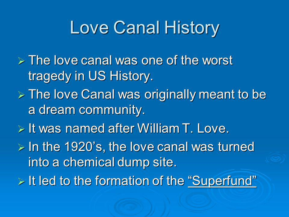 How did the Love Canal get contaminated.