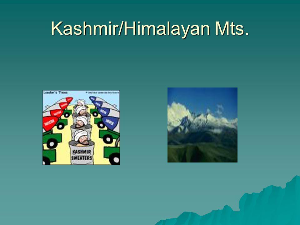 Kashmir/Himalayan Mts.