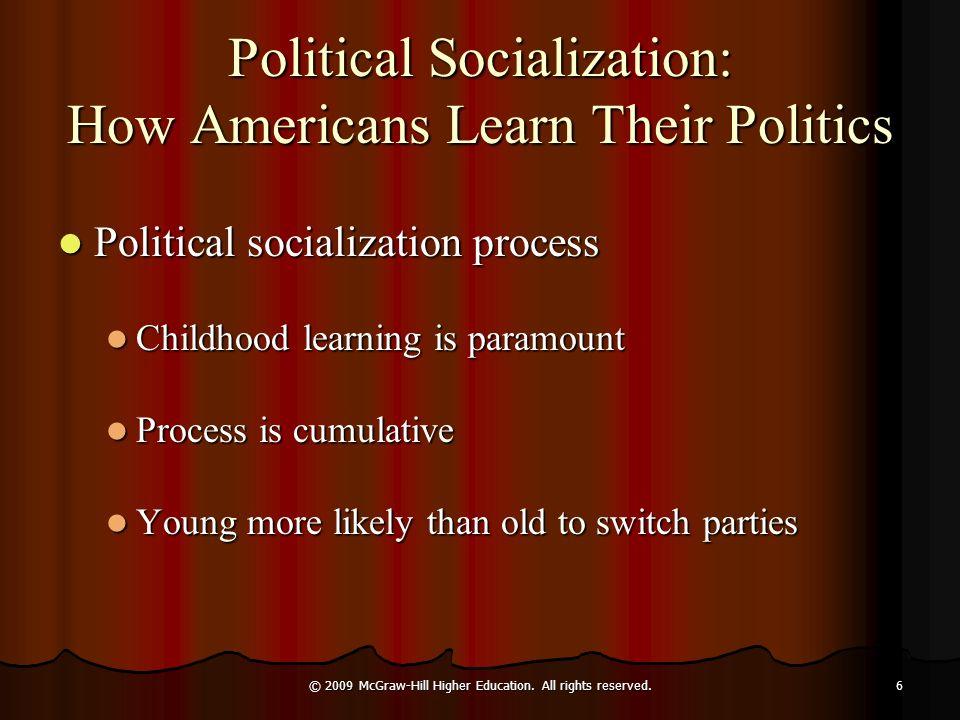 Political Socialization: How Americans Learn Their Politics Political socialization process Political socialization process Childhood learning is para