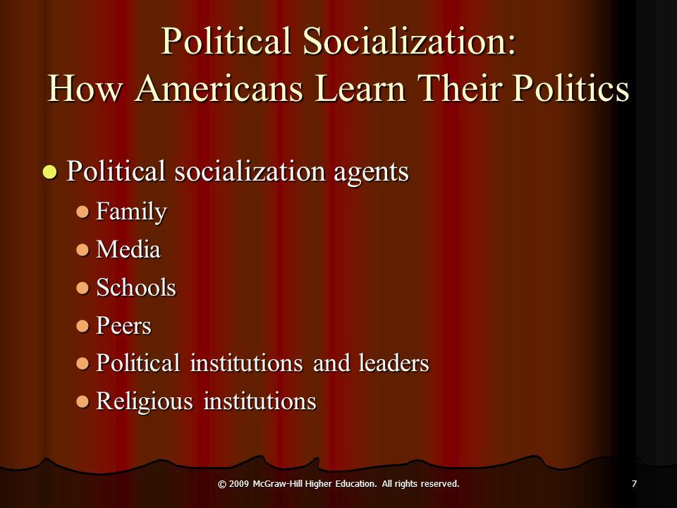 political socialization definition essay