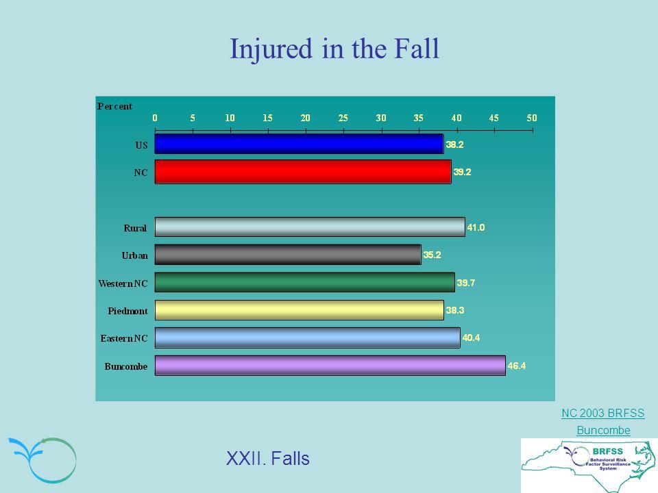 NC 2003 BRFSS Buncombe Injured in the Fall XXII. Falls