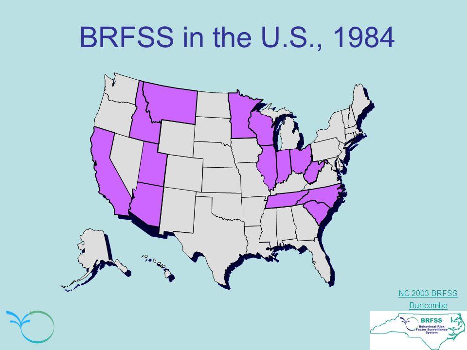 NC 2003 BRFSS Buncombe BRFSS in the U.S., 1984
