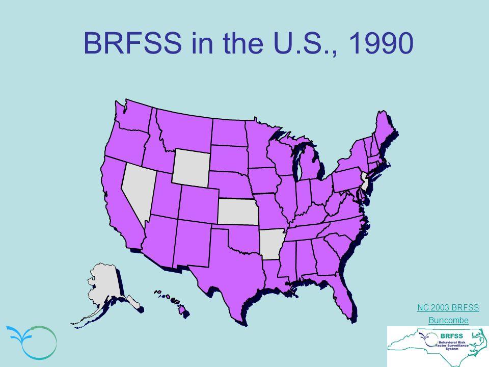 NC 2003 BRFSS Buncombe BRFSS in the U.S., 1990