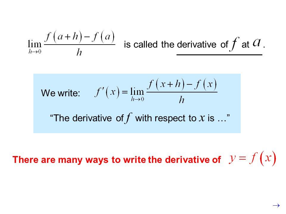 f prime xor the derivative of f with respect to x y prime dee why dee ecks or the derivative of y with respect to x dee eff dee ecks or the derivative of f with respect to x dee dee ecks uv eff uv ecksor the derivative of f of x