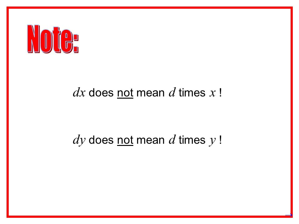 does not mean .(except when it is convenient to think of it as division.) does not mean .