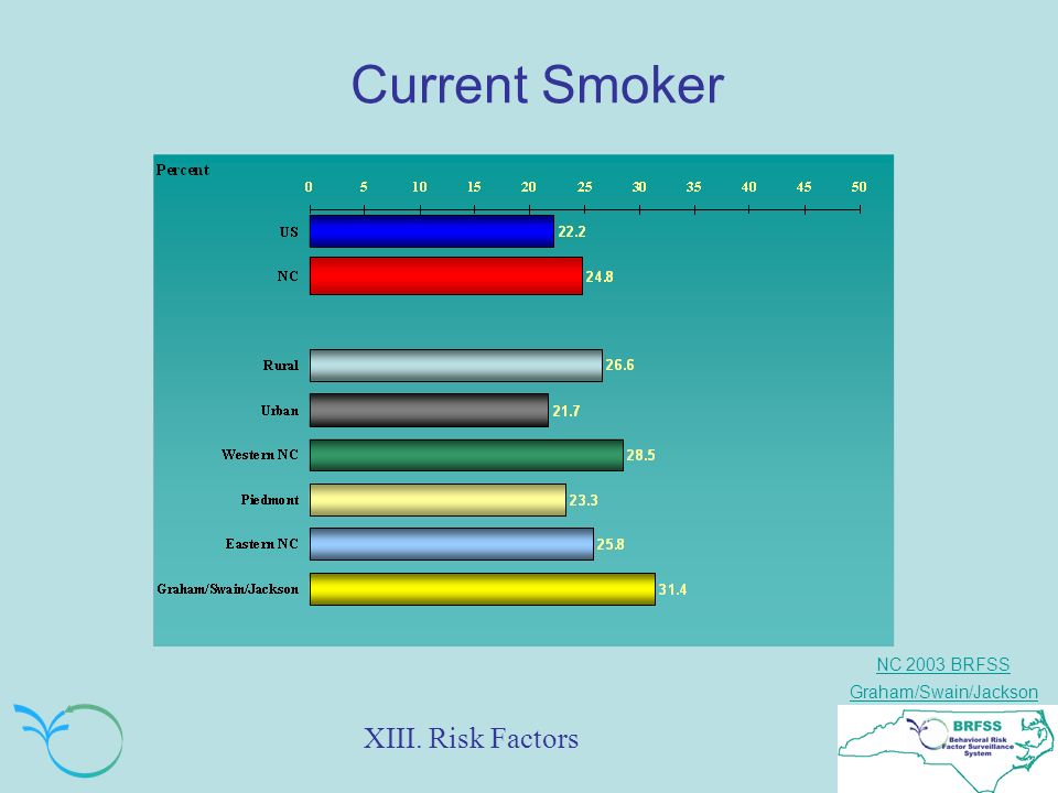 NC 2003 BRFSS Graham/Swain/Jackson Current Smoker XIII. Risk Factors