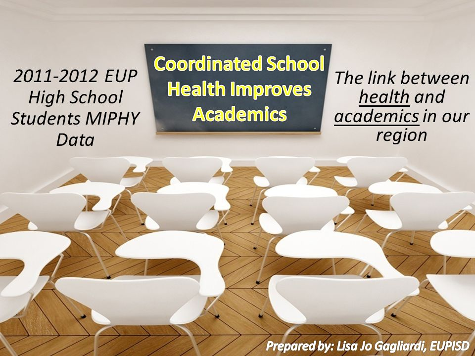 The link between health and academics in our region 2011-2012 EUP High School Students MIPHY Data