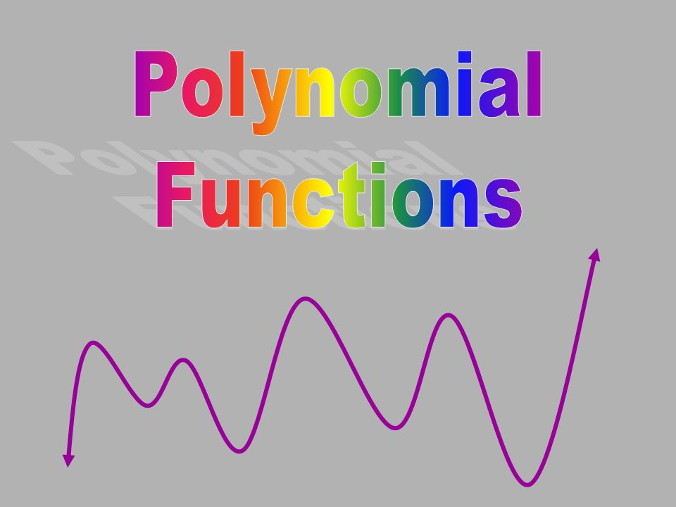 POLYNOMIAL FUNCTIONS GENERAL SHAPES OF POLYNOMIAL FUNCTIONS f(x) = x 3 + 4x 2 + 2 Cubic Function Degree = 3 Max.
