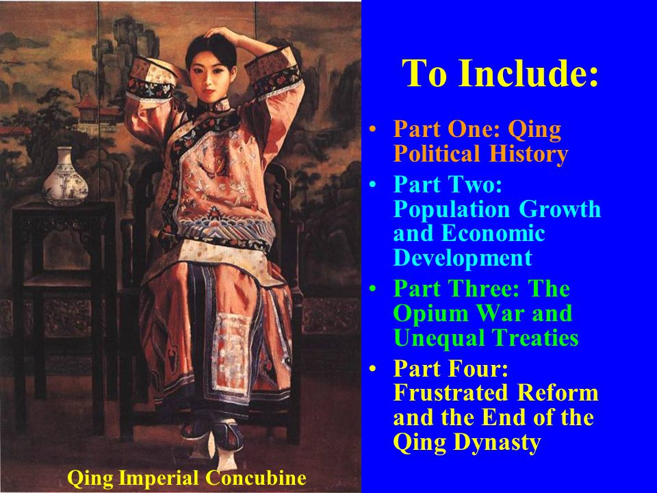 Part One: Qing Political History Origins of the Qing Manchus most probably were pastoral nomads, although many had adopted a sedentary agricultural lifeway in the rich farmlands of southern Manchuria Remote ancestors had traded with China since the Qin Dynasty Also been frequent clashes between Chinese and Manchus over land and resources along the borderlands of southern Manchuria and northern China
