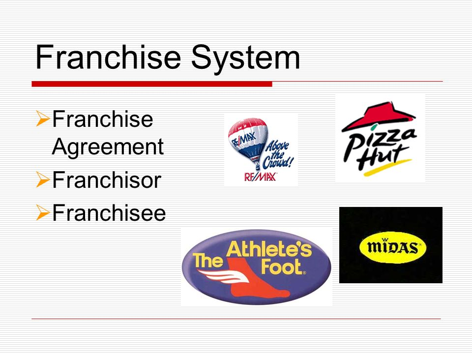 Franchise System Franchise Agreement Franchisor Franchisee