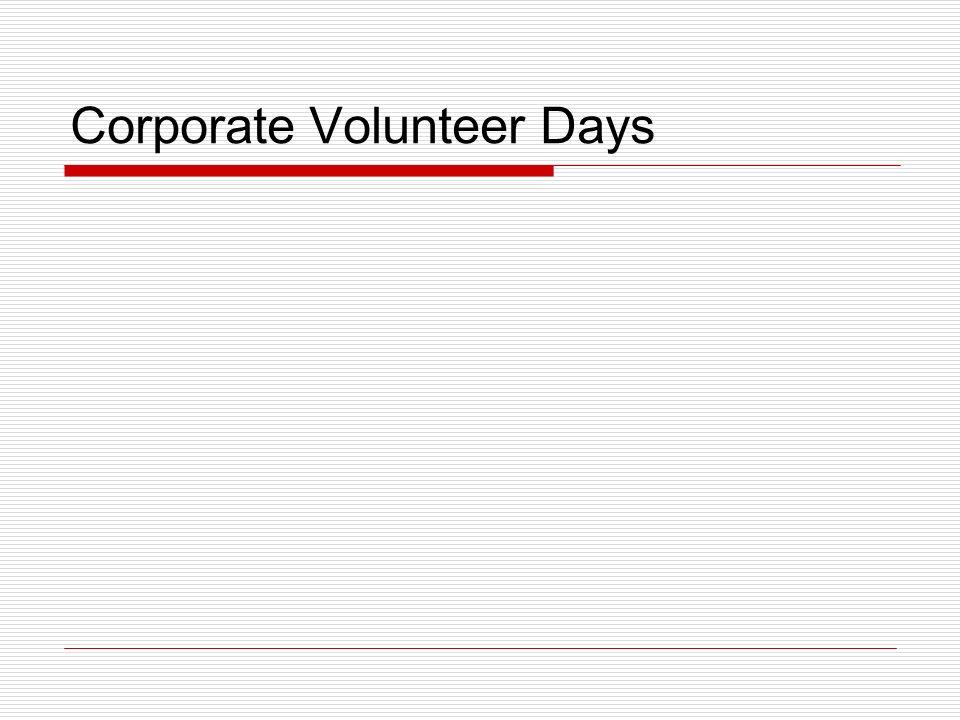 Corporate Volunteer Days