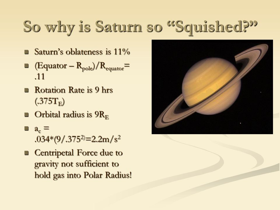 So why is Saturn so Squished.
