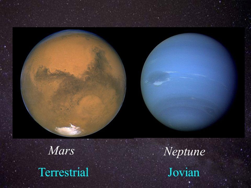 Mars Neptune TerrestrialJovian