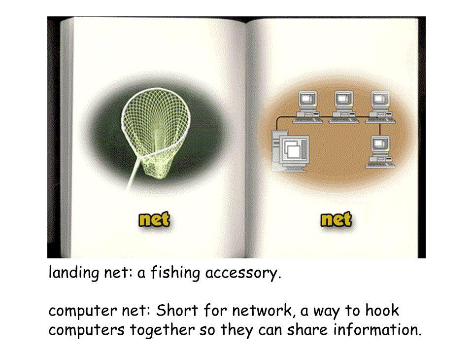 landing net: a fishing accessory.