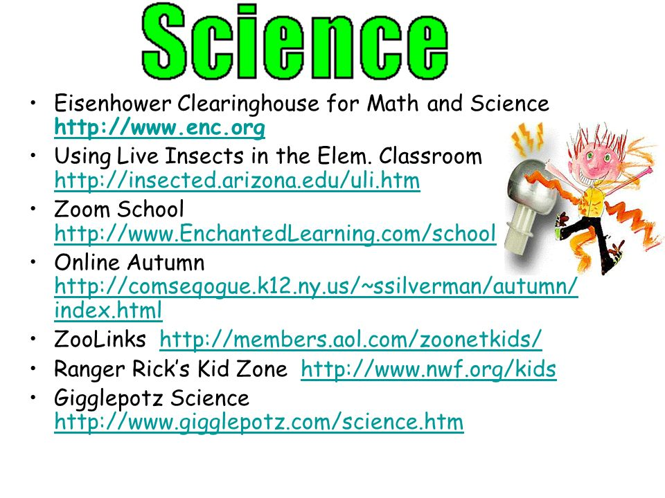 Eisenhower Clearinghouse for Math and Science http://www.enc.org http://www.enc.org Using Live Insects in the Elem. Classroom http://insected.arizona.