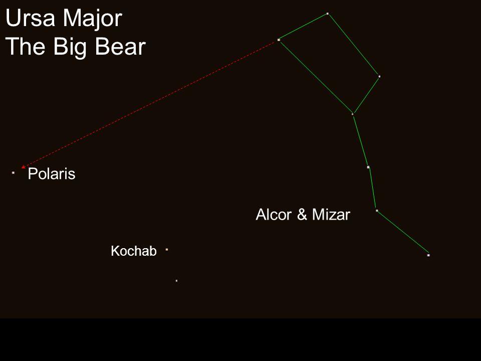 Ursa Major The Big Bear Alcor & Mizar Polaris Kochab