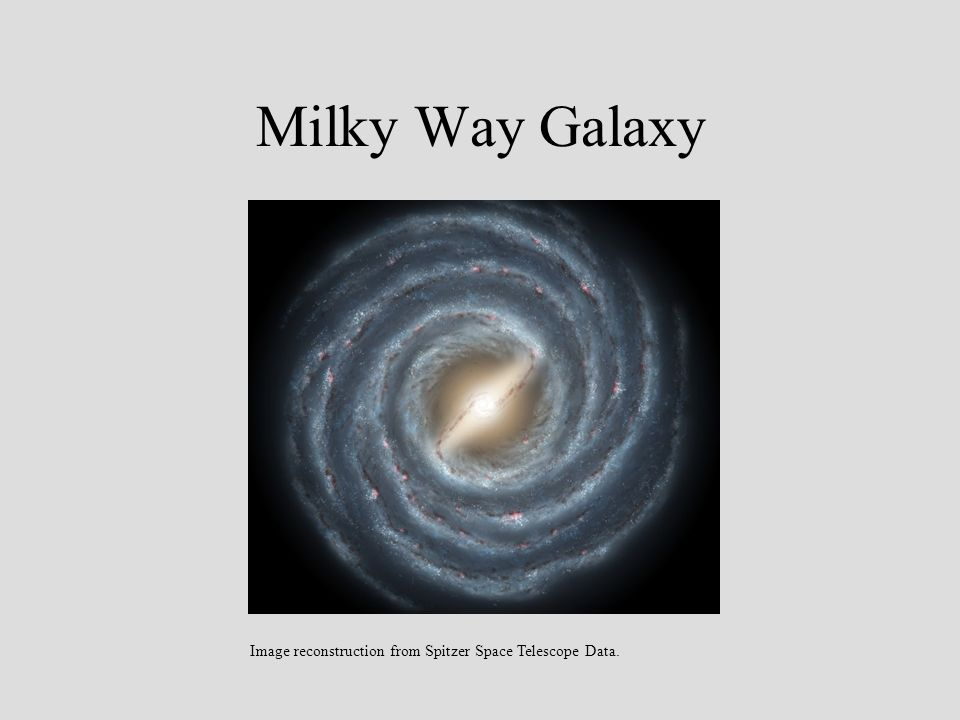Milky Way Galaxy Image reconstruction from Spitzer Space Telescope Data.