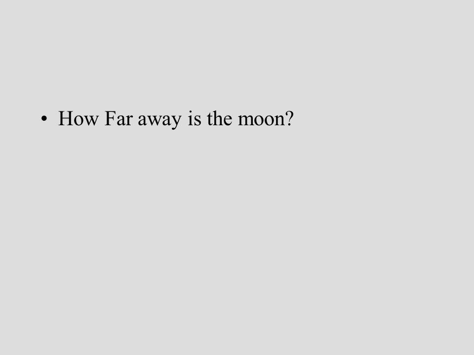 How Far away is the moon?